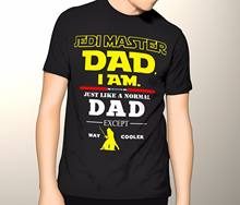 fd64aaf1 Jedi Master Dad Shirt, Star Wars Fathers Day Shirt, Premium Graphic T-Shirt  Tees Brand Clothing Funny O Neck T shirt