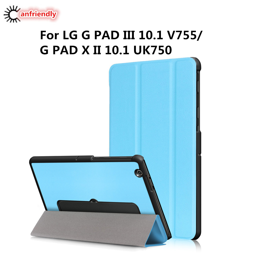 For LG G Pad 3 III 10.1 V755 case Luxury PU Leather Tablet Cover Case For LG G PAD X II 10.1 UK750 Folding Flip Stand Capa Coque
