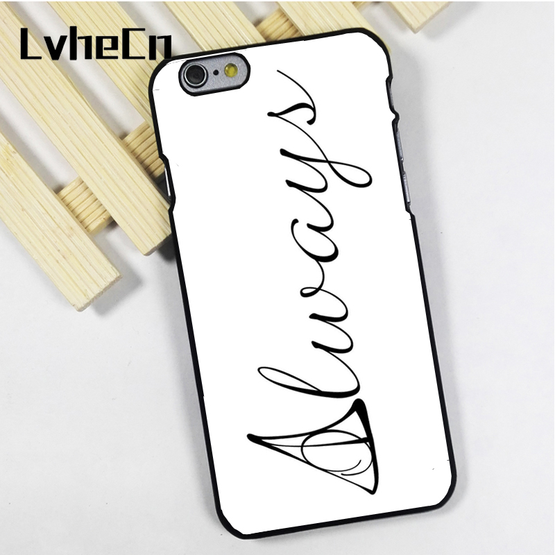 LvheCn phone case cover fit for iPhone 4 4s 5 5s 5c SE 6 6s 7 8 plus X ipod touch 4 5 6 Deathly Hallows Harry Potter Always