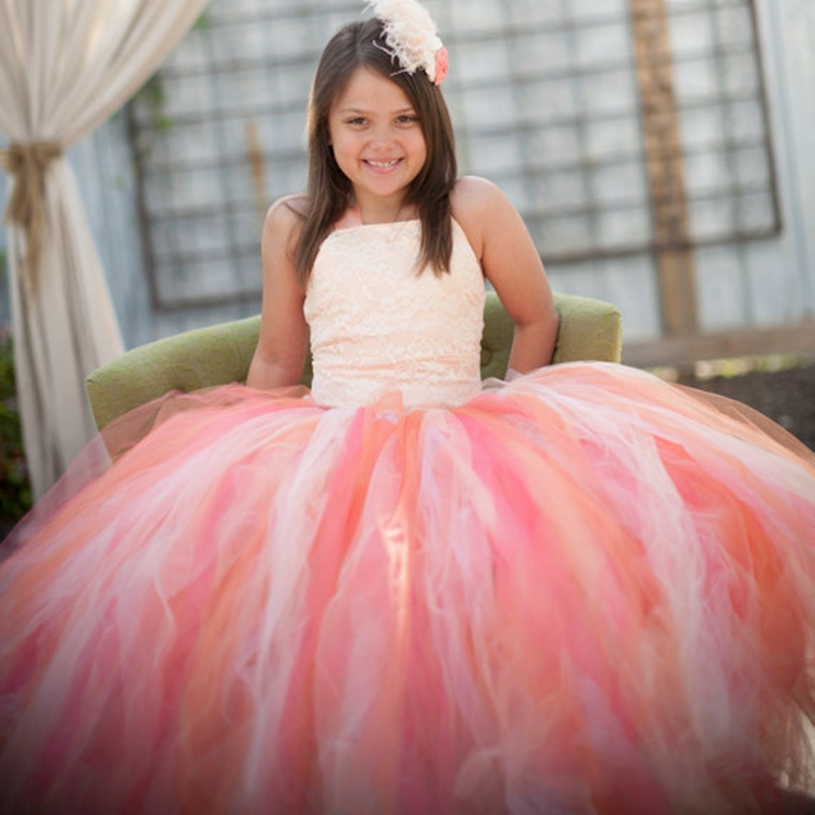 Blue&Pink White Princess Girl Tutu Dress Children Girls Wedding Birthday Photo Party Costume Tutu Summer Clothes for Girl 2-14y blue&pink white princess girl tutu dress children girls wedding birthday photo party costume tutu summer clothes for girl 2 14y