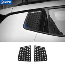 Mopai exterior do carro janela traseira triângulo de vidro decoração capa guarnição adesivos para jeep compass 2017 up acessórios do carro estilo