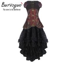 Women Steampunk Corset Dress High Waist Skirts