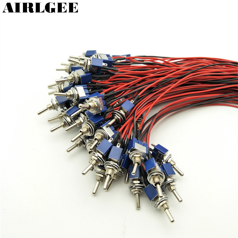 50pcs MTS-102 On/On SPDT 3 Terminals Motorcycle Wired Latching Toggle Switch With Cable AC 125V/6A paul klee paul klee