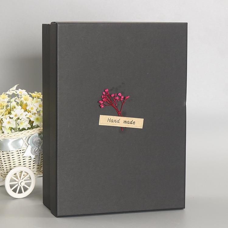 presente preta caixa de presente personalizado 03