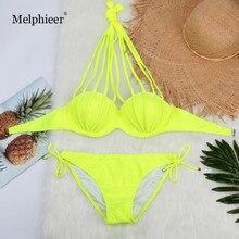 Yellow White Black Bikini Set Underwired Push Up Swimsuit Swimwear Biquini Bathing Suits Swimming Suit For Women Maillot De Bain