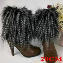 Стиль ботинок манжеты Пушистые мягкие пушистые искусственные меховые ножки гетры ботинок обувь покрытие 101501