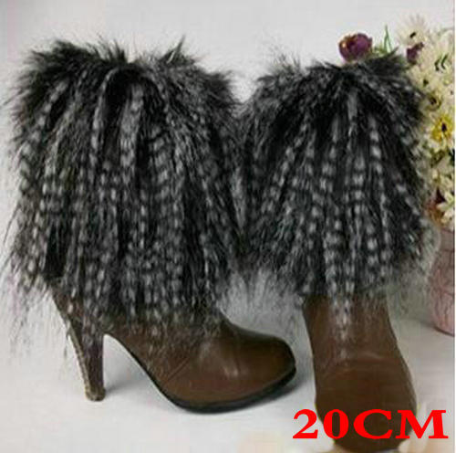 New Style Boot Cuff Fluffy Soft Furry Faux Fur Leg Warmers Boot Toppers Shoes Cover 101501