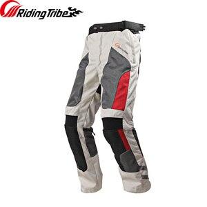 Image 2 - Riding Tribe pantalones de moto para hombre protección de conducción anticolisión con rodilleras HP 12, temporada completa, verano e invierno