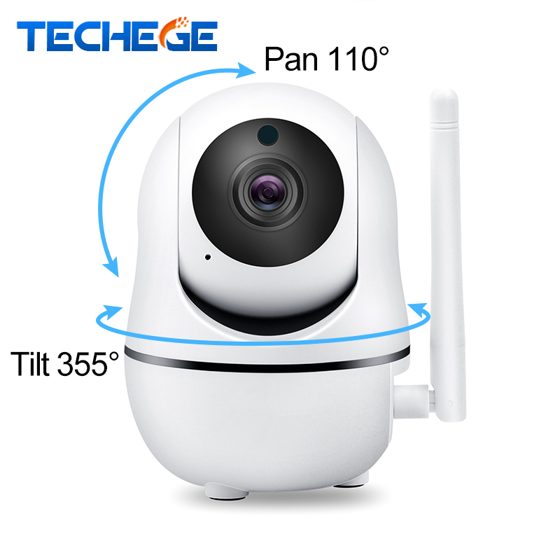 Techege 1080P 720P Wireless Camera IP Smart Home Security WiFi IP Camera WiFi Pan Tilt Two Way Talk Night Vision PTZ CCTV Camera ptz ip camera wifi baby monitors pan tilt night vision intelligent surveillance cctv camera support alarm two way audio