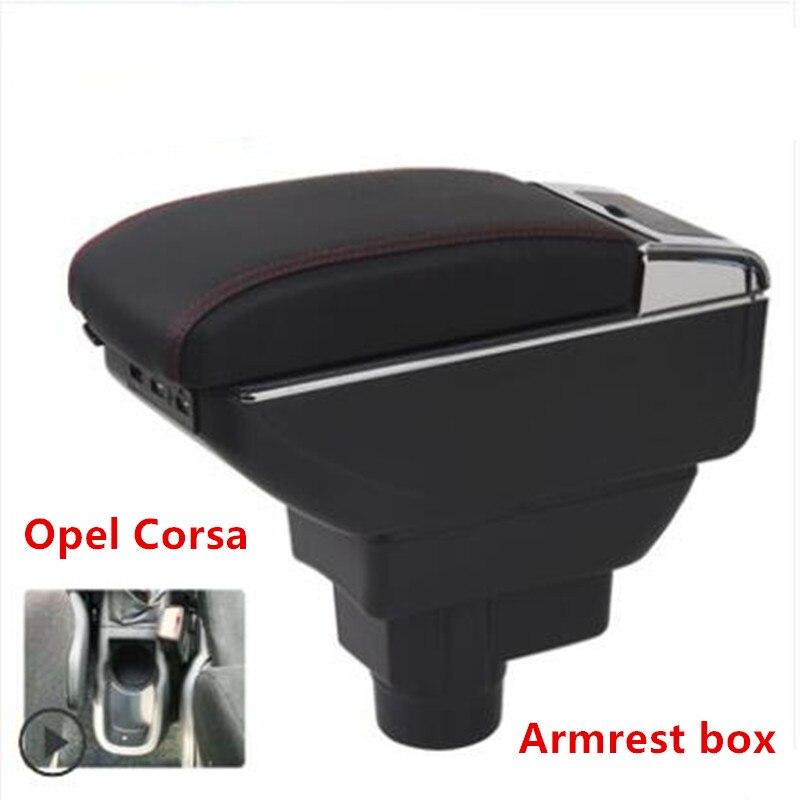 For Opel Corsa Armrest font b Box b font Opel Corsa D Universal Car Central Armrest
