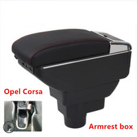 For Opel Corsa Armrest Box Opel Corsa D Universal Car Central Armrest Storage Box cup holder ashtray modification accessories