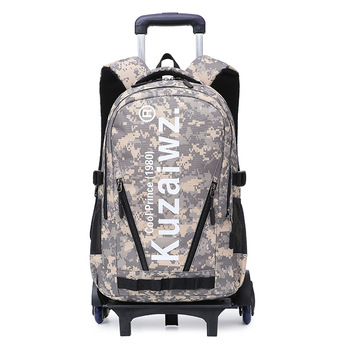2019 Waterproof Trolley School backpacks Girls Children School Bags Wheels Travel Bags Luggage Backpacks Kids Rolling Schoolbags