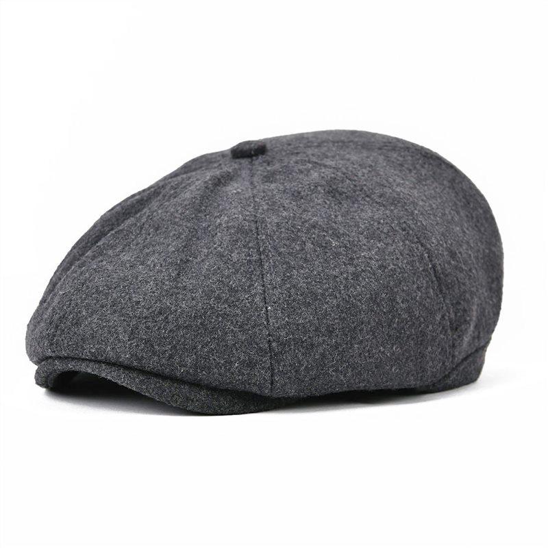 Voboom النساء الرجال الصوف موزع الصحف كاب 8 لوحة البلد بيكر بوي اللبلاب قبعة مسطحة القبعات القبعات تويد بوينا 111