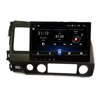 10.2'' 1.6GHz Quad Core RAM 1GB Android 6.1 Car Radio GPS Navigation Player for Honda Civic 2006 2011 No Canbus