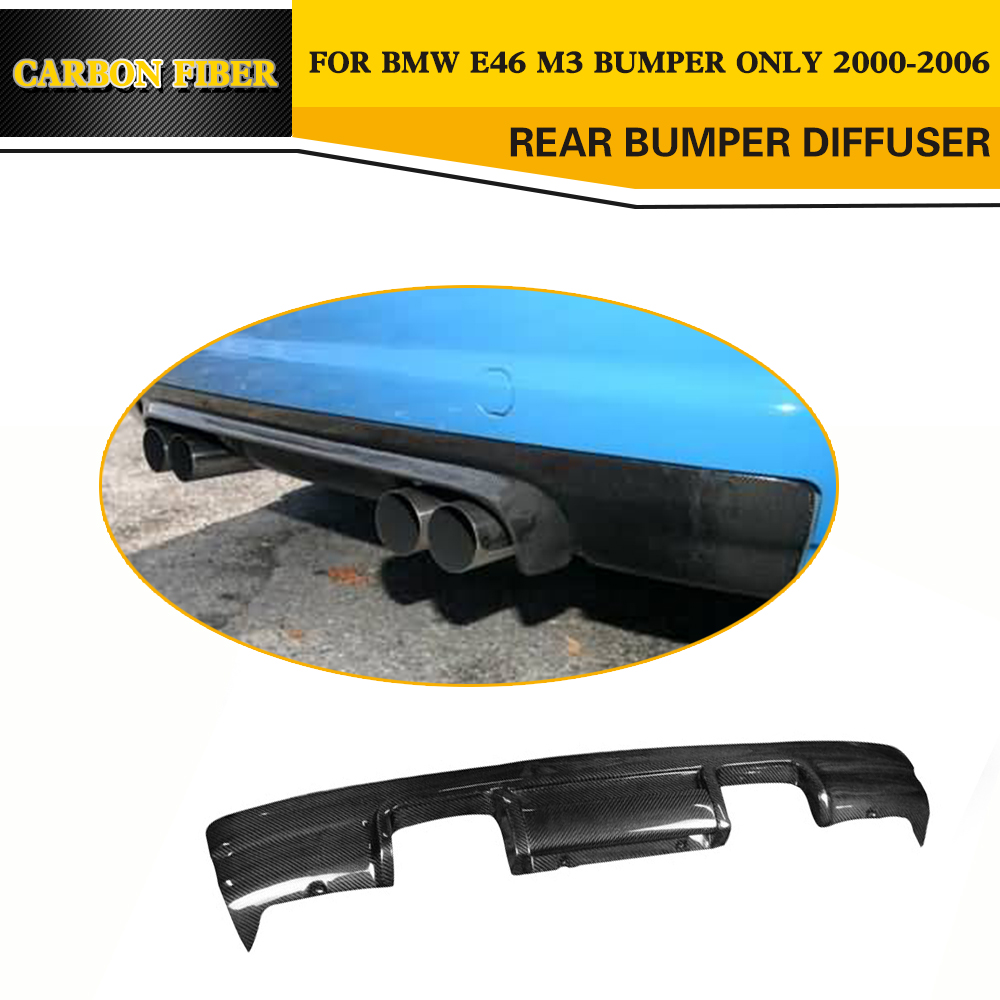 Углеродного волокна задний диффузор бампер автомобиля губ для BMW E46 M3 только 2000 2006