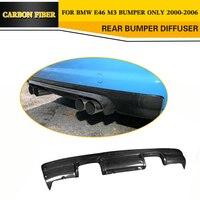 Carbon Fiber Rear Diffuser Car Bumper Lip for BMW E46 M3 Only 2000 2006