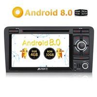 Pumpkin 2 Din 7''Android 8.0 Car Multimedia DVD Player Autoradio GPS Navigation Qcta core 4G RAM Car Radio For Audi A3 2003 2011