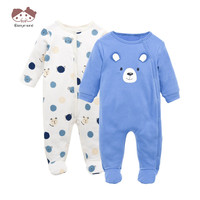 2PCS Baby Romper Winter Autumn Cute Cartoon Infant Clothes Newborn Baby Boys Girls Jumpsuit Brand New