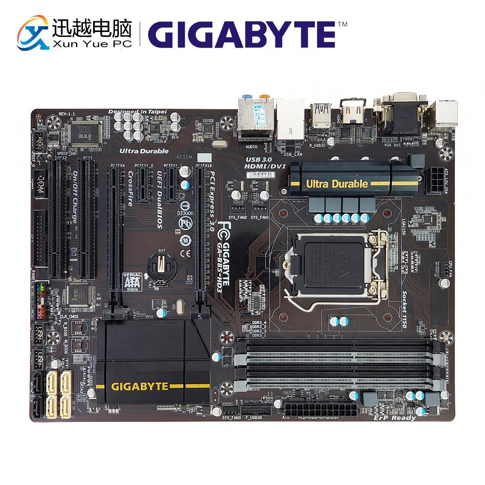 Gigabyte GA-B85-HD3 Desktop Motherboard B85-HD3 B85 LGA 1150 i3 i5 i7 DDR3 32G VGA DVI HDMI ATX цена