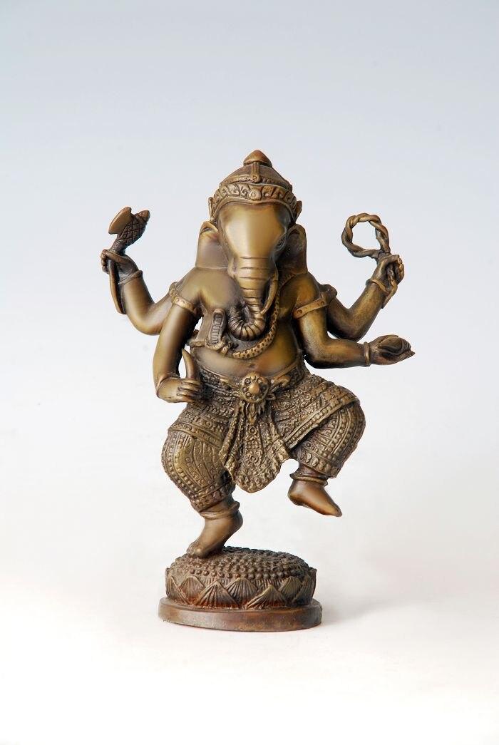 ATLIE BRONZES small size  bronze sculpture buddha statue Ganesha Buddhism temple decoration BD-05F