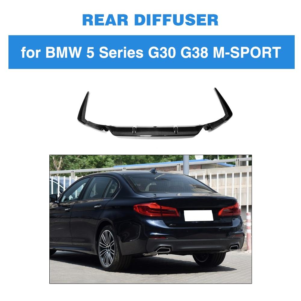 5 Series Carbon Fiber Rear Bumper Lip Spoiler Diffuser For
