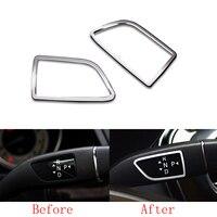2x Alloy Shift Rod+Wiper Frame Cover Trim For Mercedes Benz B Class W246 12 16 & CLA Class C117 13 16 & GLA Class X156 14 16
