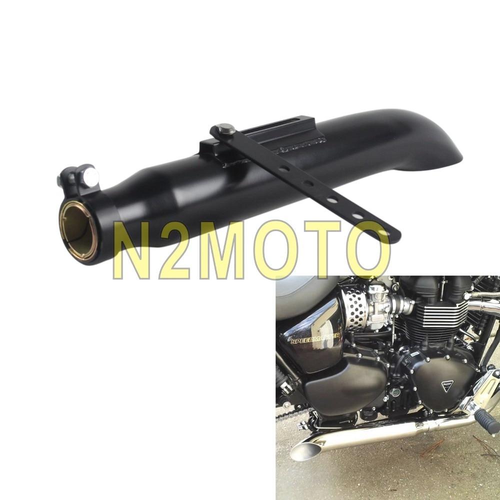 motorcycles exhaust muffler pipe universal for 1 3 8 1 1 2 1 5 8 and 1 3 4 slash cut black custom vintage silencer