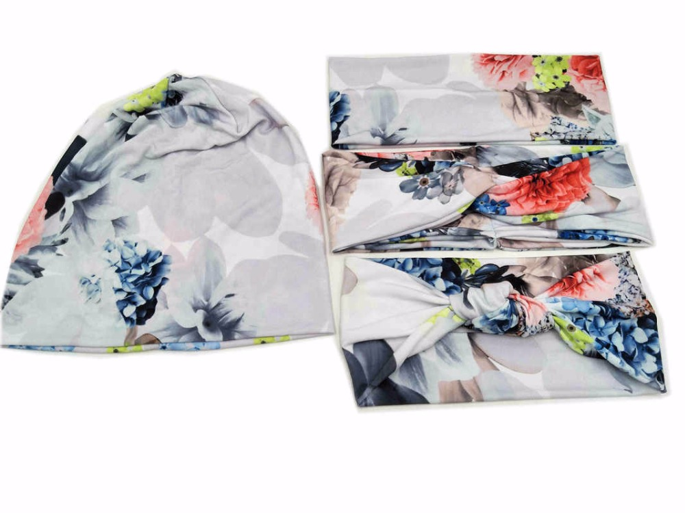 S1850015 Newest  set good stretch cotton fashion Chinese painting print  headwear, charming and comfortable head bands headband