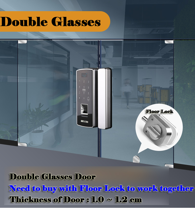 Glass Fingerprint Lock Digital Electronic Door Lock For Home Anti