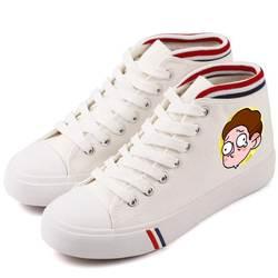 Лидер продаж, аниме ТВ, Рик Морти, женская повседневная обувь, обувь на шнуровке, высокая парусиновая обувь, подарок подруге, A193141
