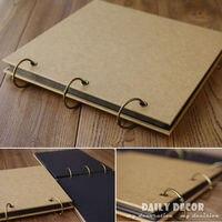 100% high quality handmade photo album scrapbook diy blank photo album kraft photo album free shipping