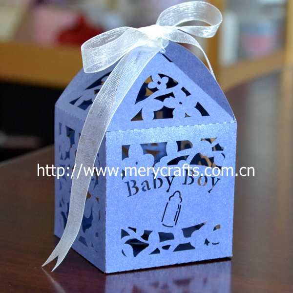 Laser Cut Baby Boy Favor Boxes For Baby Shower Party Supplies Baby