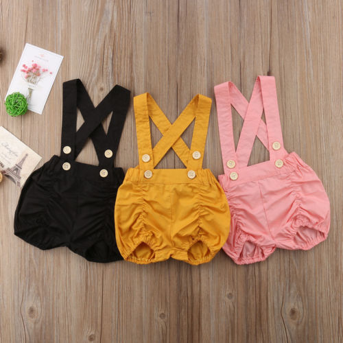 Baby Kids Girls Clothing Overalls   Romper   Sleeveless Casual Jumpsuit Shorts Outfit Clothes Set Summer Baby Girl 0-3T