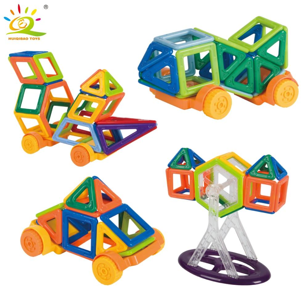 68pcs Mini Size Magnetic construction Building Blocks kit DIY 3D Children Educational Toys for kids Car Magnetic Tiles Bricks