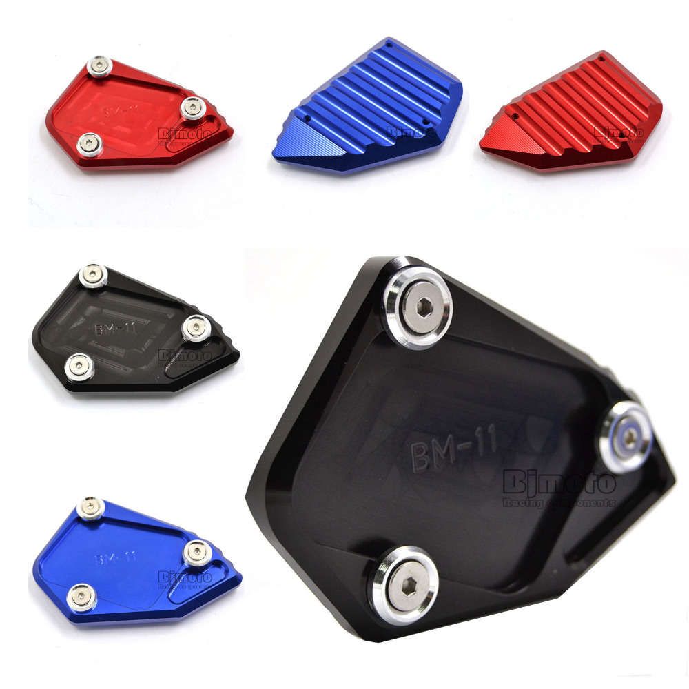 BJGLOBAL Motorcycle CNC Kickstand Foot Side Stand Extension Plate Enlarger Pad For BMW R 1200 GS 2008 2009 2010 2011 2012 Black for bmw f800r 2009 2012 2013 2014 hp2 08 motorcycle cnc aluminum side stand enlarger cnc kickstand pate pad side stand enlarger