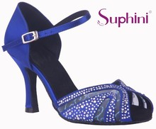 Free Shipping Suphini Safe Stable High heel Woman Comfortable Latin Salsa Shoes Blue Latin Dance Shoes