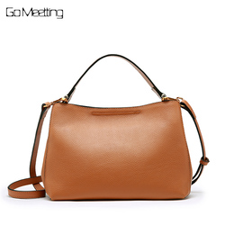 Go Meetting Women Brand Handbags Genuine Leather Composite Bags High Quality Female Shoulder Bags Ladies Cowhide Crossbody Bag