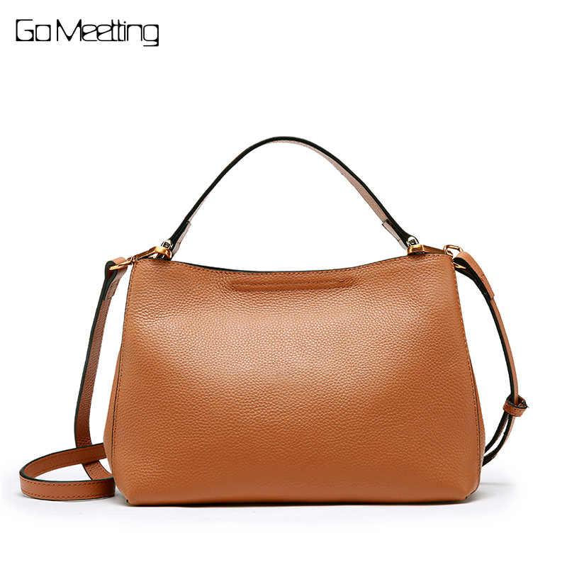d0a50dfda64b Go Meetting женские брендовые сумки из натуральной кожи композитные сумки  высокого качества женские сумки на плечо