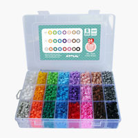 Free Shipping 5280pcs S 5mm Hama Beads 24 Colors Box Set Perler Beads Educational Wholesale And