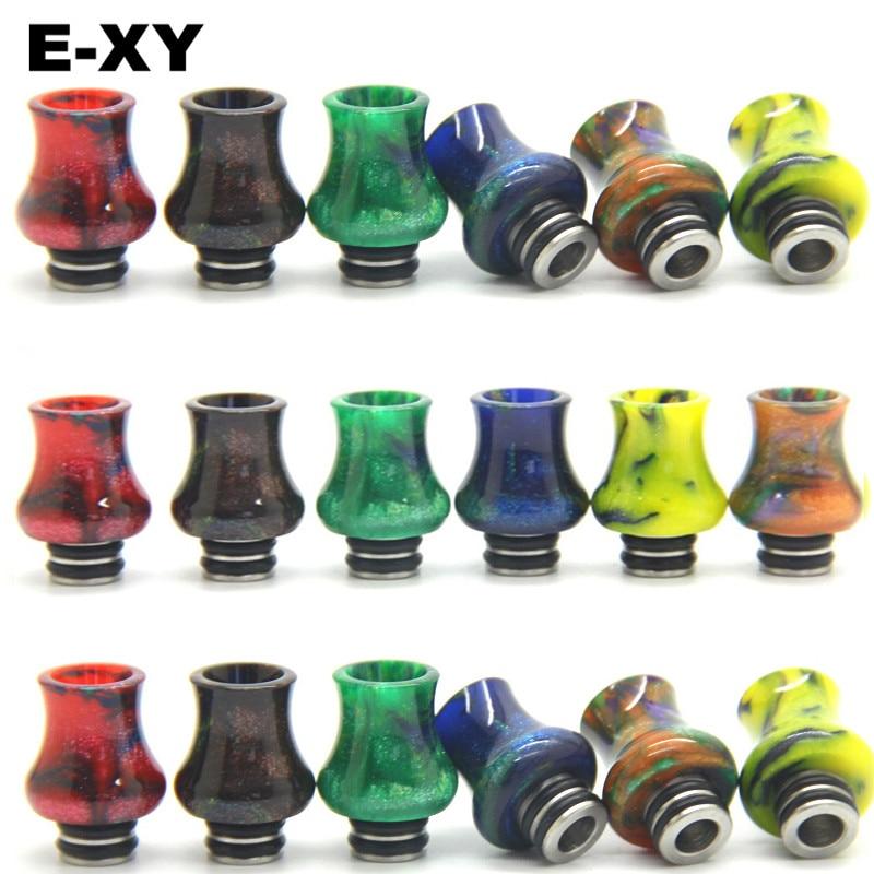 E-XY 510 Resin tetes tips E-rokok 510 Labu Tetes Tips E rokok pemegang Resin Corong cocok untuk 510 RBA RDA Tank Alat Penyemprot