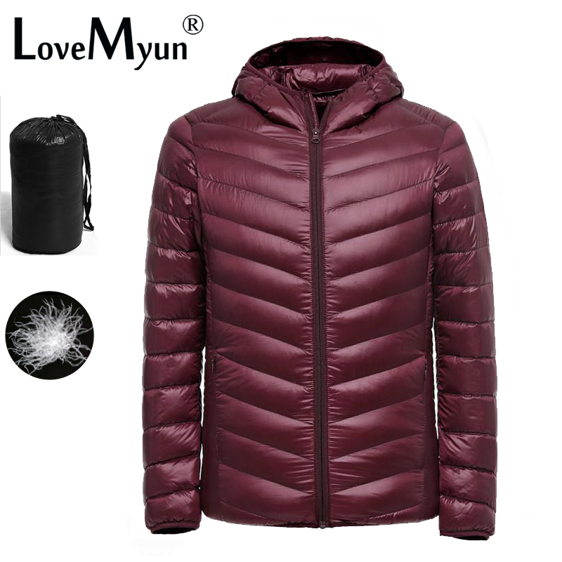 2019 Nya Ultralätta Män 90% Vit Duck Down Jacket Winter Duck Down Coat Vattentät Down Parkas Ytterkläder Puffer Jacket Mens