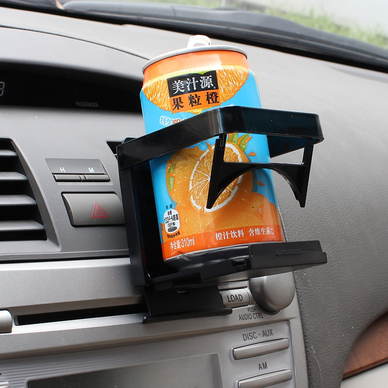 Folded automobile coffee cup holder hard Plastic drink holders bottle support interior accessories Black Car styling 1024