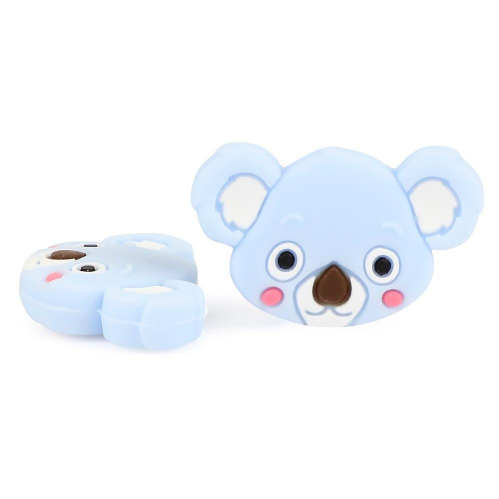 Image 2 - TYRY.HU 50pc Mini Koala Chewable Beads Food Grade Cartoon Silicone Beads Baby Teether Teething Toy DIY Pacifier Clip AccessoriesBaby Teethers   -