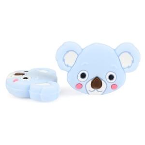 Image 2 - TYRY.HU 50pc Mini Koala Chewable Beads Food Grade Cartoon Silicone Beads Baby Teether Teething Toy DIY Pacifier Clip Accessories