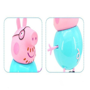Image 4 - 4pcs/set Peppa pig Family George Pig Action Figure Original Family  Dad Mom Pig Model Doll Birthday Christmas Gift Kid for Toys