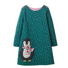 New Girls Dress Applique Long Sleeve Princess Dress Children Rabbit Costume Kids Party Dresses Baby Girls Clothes Penguin new girls dress new style cotton applique embroidery long sleeved girls dress kids casual clothes brand children clothes 1 6yrs