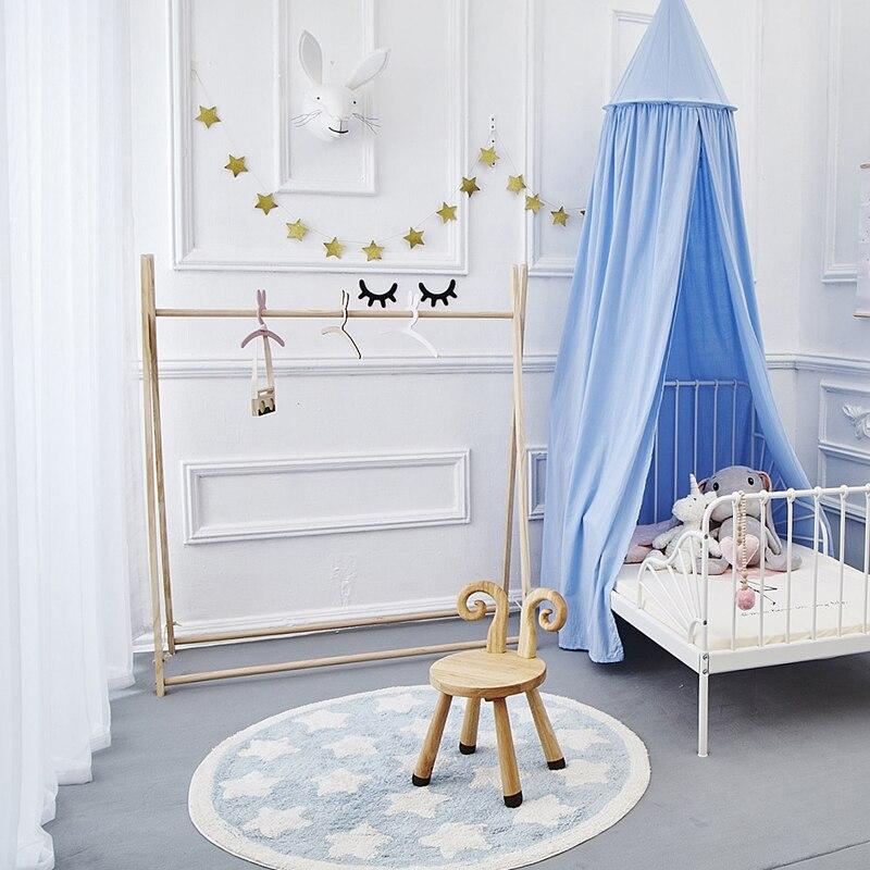 Ev ve Bahçe'ten Kilim'de Star Halı Tapete Infantil Yuvarlak Nordic Pamuk Paspas Kilim Yumuşak Mavi Kilim Bebek Çocuk Çocuklar için Yatak Odası Oturma Odası dekor'da  Grup 3
