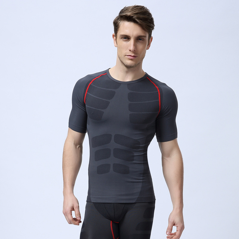 New Design Sport TShirts Men s Slim Fit Short Sleeve Breathable Quick Drying Top Running Fitness