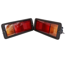 1 Pair Left & Right Car Rear Fog Light Housing Fog Light Cover Replacement for Mitsubishi Pajero liandlee car tracing cauda laser light for mitsubishi pajero sport pajero dark 2008 2015 anti fog lamps rear lights