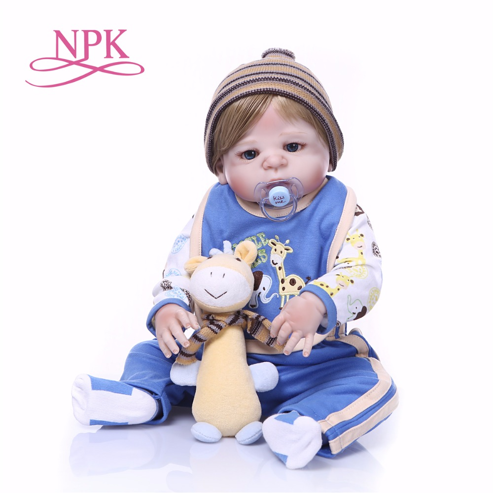 Bebes reborn menino 23inch 57cm blond hair boy full silicone reborn baby dolls toys for children gift can bathe bonecasBebes reborn menino 23inch 57cm blond hair boy full silicone reborn baby dolls toys for children gift can bathe bonecas